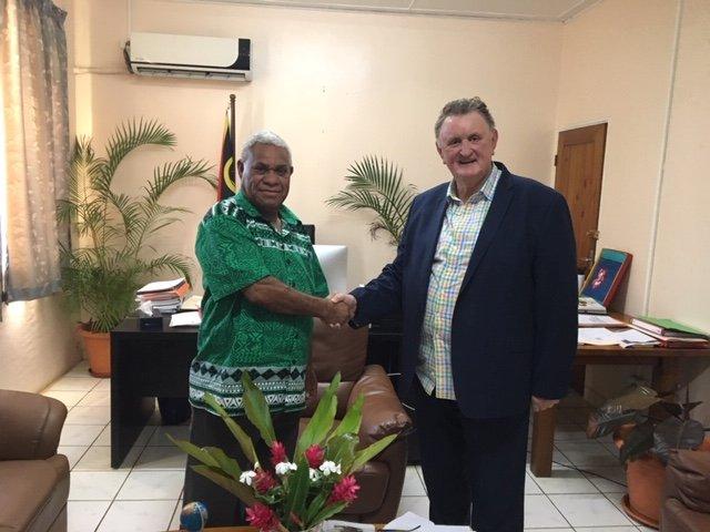 Richard Butler with DPM of Vanuatu 1242019